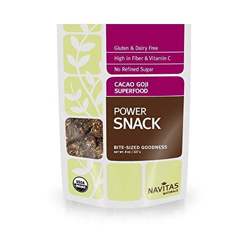 - Navitas Naturals Organic Cacao Goji Superfood Power Snack, 8-Ounce (Pack of 2)