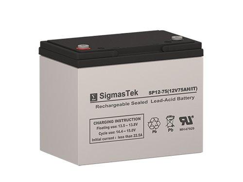 - SigmasTek SP12-75 IT - 12V 75AH IT SLA Battery - Replaces: APC RBC14, RBC13, Eaton Powerware 153302035-001