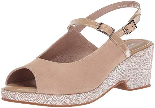 BeautiFeel Womens Kya Open Toe Casual Ankle Strap Sandals, Nude White, Size 7.5