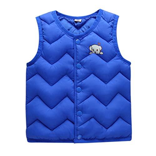 Loveble Baby Boys Girls Cotton Coat Winter Warmer Vest Paded Waistcoat Jacket Outwear by Loveble