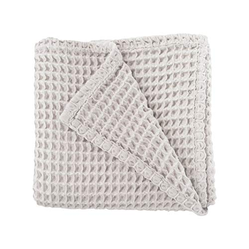 Cloud Blanket in Light Grey - Made from Soft and Lofty Waffle Gauze - 100% Cotton - 36