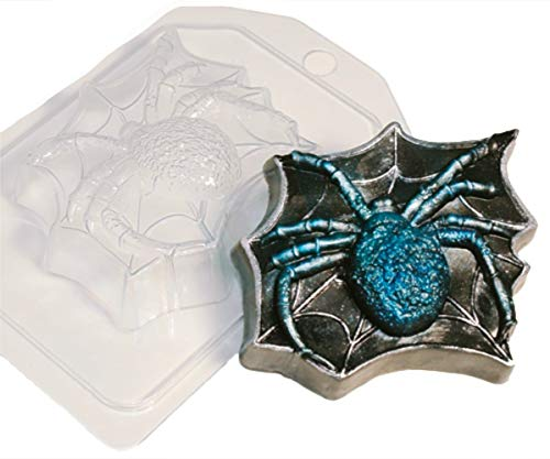 1pc Spider Web Gothic Halloween Animal Plastic Soap Making Mold Mould 87x77x28mm -