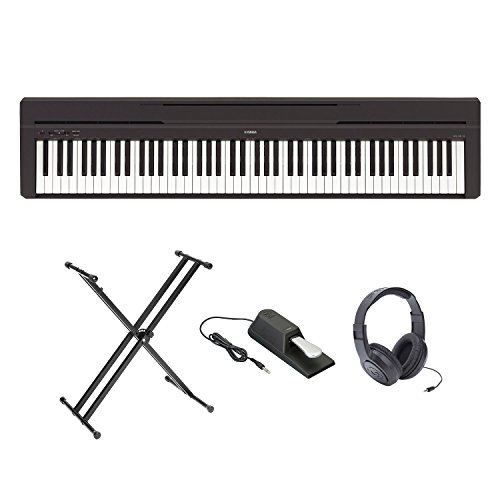 Yamaha P-45 Ultra Platinum Keyboard Package With Headphon...