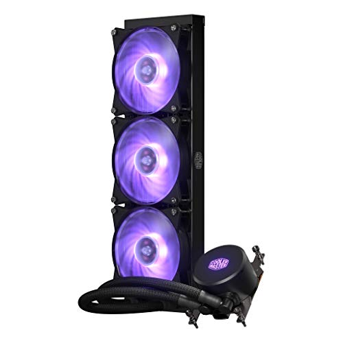 Cooler Master MLX-D36M-A20PC-T1 MasterLiquid ML360 RGB AIO CPU Liquid Cooler Thread Ripper TR4 Triple 120mm RGB Air Balance MF