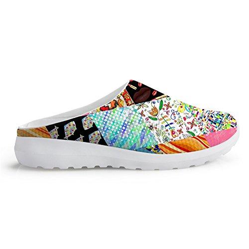 Fashion Design Sandalen Multicolor Bloemen Ademend Mesh Slip-ons Lui Schoenen Meisjes Multicolor1