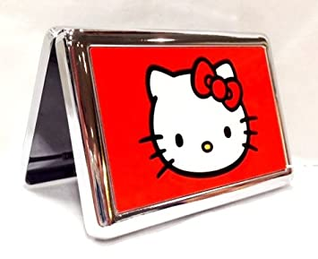 Amazon hello kitty red metal business card id holder hello kitty red metal business card id holder cigarette case reheart Images
