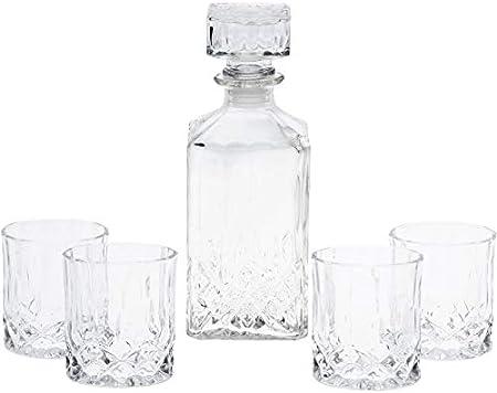 HomePlaceEU - Decantador de whisky y vino de cristal de corte clásico, regalo de Barcraft, botella de vino, escocés, brandy y agua (decantador de whisky)