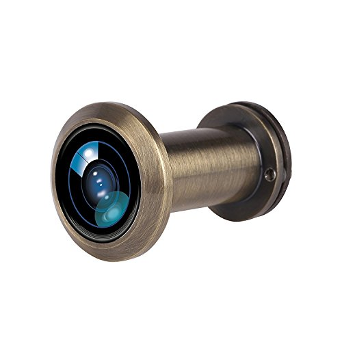 Door Viewer Peephole, 200-Degree Door Viewer with Heavy Duty Rotating Privacy Cover for 1-3/8