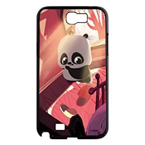 Best Quality [LILYALEX PHONE CASE] Cute Pandas For Samsung Galaxy Note 2 CASE-2