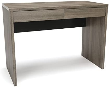 OFM Essentials Collection 2-Drawer Solid Panel Office Desk, in Driftwood ESS-1012-DWD