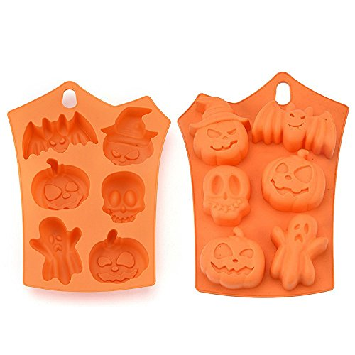Cake Silicone Mold , OUBAO Creative Happy Halloween Silicone Pumpkin Cake Silicone Mold Kitchen Bake (Creative Halloween Cakes)