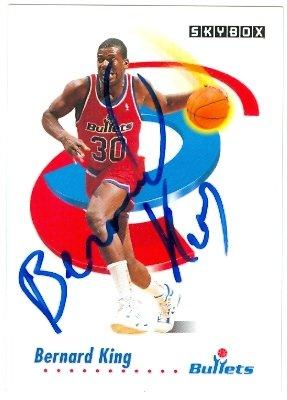 43217 Bernard King Autographed Basketball Card Washington Bullets 1991 Skybox No .294 (Bernard King Autographed Basketball)