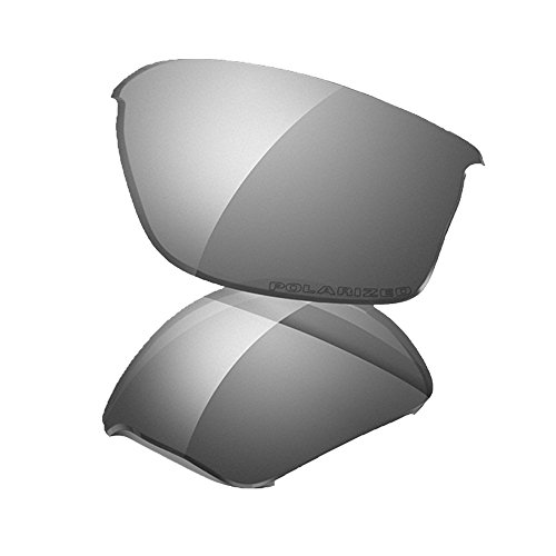Oakley Flak 2.0 XL Replacement Lens Black Iridium Polarized, One Size