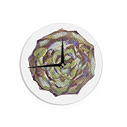 KESS InHouse Theresa Giolzetti Artichoke Brown Green Wall Clock, 12