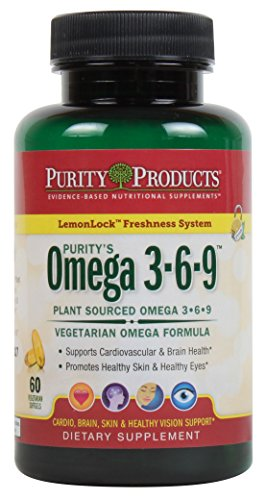 """Omega 3-6-9 Vegan and Vegetarian Omega Formula - """"5 in 1"""" Essential Fatty Acid Complex - Scientifically Formulated Plant-Based Omega 3 6 9 Essential Fatty Acids (EFA) - from Purity Products (60)"""