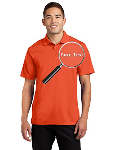 Design Embroidery Monogram - Custom Embroidered Moisture Wicking Performance Polo - Embroidery Collar Shirts