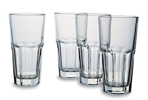 Bohemia Cristal 093 006 137 Latte Macchiato Gläser ca. 350 ml aus Kalk-Natron-Glas 4er Set
