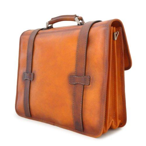 Pratesi Pelletterie, bolso de piel Para Hombre carpeta Vallombrosa de piel auténtica marrón Size: 34.00x42.00x18.00 Cm marrón