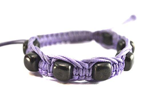 lilac-bracelet-with-square-beads-genuine-shungites