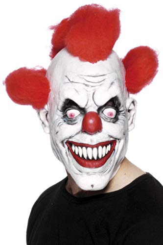 Scary Red-Eyed Clown 3/4 Mask -