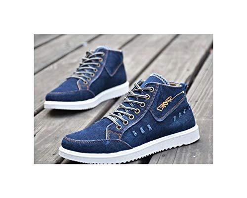 TNGWA& Men's Vulcanize Shoes Summer Shockproof Casual Canvas Shoes Male Sport Superstar Men Flats Ultras Boosts Krasovki Blue 7.5 (Versace Kaufen)