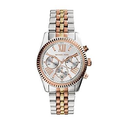 Michael Kors Women's Lexington Triology Watch, Rose Gold/Silver/Yellow Gold, One Size