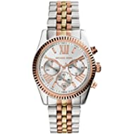 Michael Kors Women's Lexington Triology Watch, Rose Gold/Silver/Yellow Gold, One Size