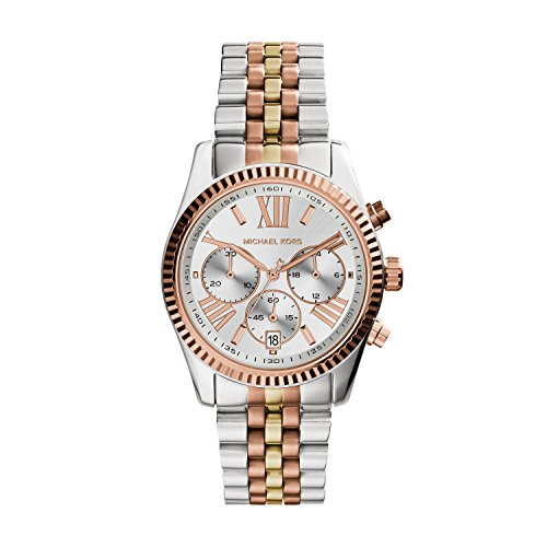 Michael Kors Women's Lexington Triology Watch, Rose Gold/Sil