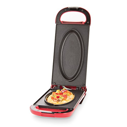 Buy Discount Dash DOM001RD Nonstick Omelette Maker, Red