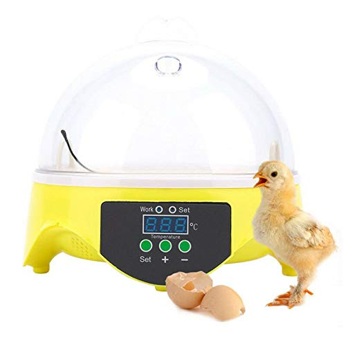 Fipper 7 Eggs Digital Automatic Poultry Hatcher Hatching Incubator Chicken Duck Bird