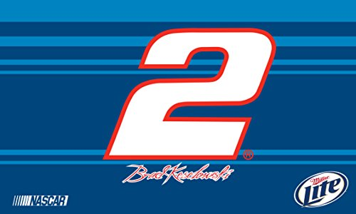 R and R Imports Brad Keselowski #2 Miller Lite 3' x 5' One Sided Number Flag