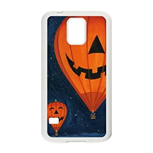 Samsung Galaxy S5 Cell Phone Case White Pumpkin lights Hot air balloon Ndlfj