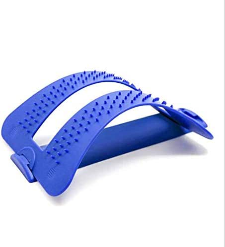 Lumbar Support Posture Orthosis, Lumbar Stretcher, Comfortable Back Stretcher, 3-Stage Stretching Equipment for Upper and Lower Back Pain Relief (Multi-Color Optional),Blue