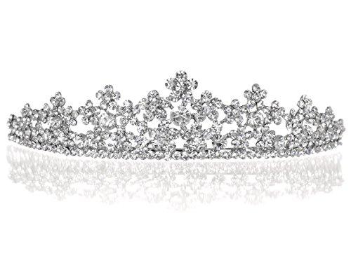 - Daisy Flower Rhinestone Crystal Prom Wedding Tiara Crown T1059