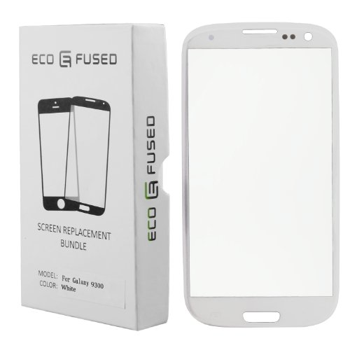 Eco-Fused Screen Replacement Kit for Samsung Galaxy S3 including Replacement Glass / Tool Kit / Adhesive Sticker Tape / Tweezers / Microfiber Cleaning Cloth / Instruction Manual
