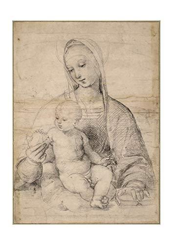 Spiffing Prints Raphael - Madonna of The Pomegranate - Large - Matte - Framed