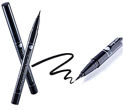 isLeaf Long Lasting Waterproof Fine Line Precision Liquid Natural Eyeliner Black/Dark Brown (Ink tank type)