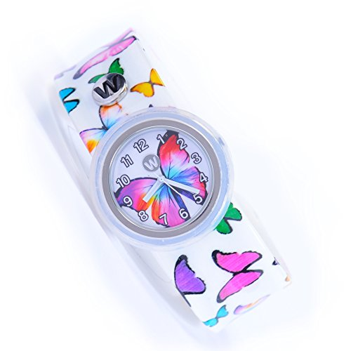 Watchitude Plunge Proof Slap Watch - Butterfly Gems - Kids Watch for Boys & Girls