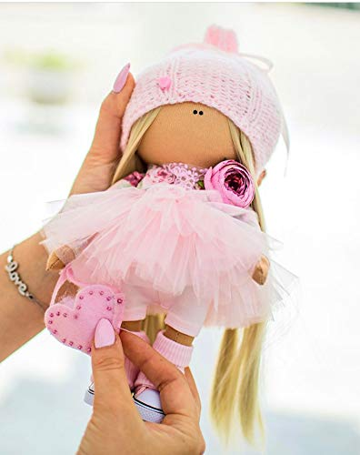 Interior doll Textile Handmade doll Gift Fabric doll Soft doll Girl rag doll Textile blonde doll doll Cloth doll Soft doll Rag doll Art doll Craft Russia Doll Tilda