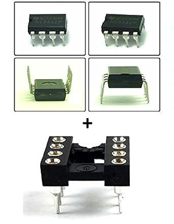 Texas Instruments NE5532P Dual Amplificador Operacional y 8 pines DIP Sockets con mecanizado Contacto Pins (