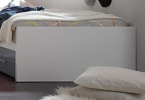 M/öbel Akut Bett Colori Kinderzimmer Jugendbett Kinderbett wei/ß grau 90x200 cm Schubkasten