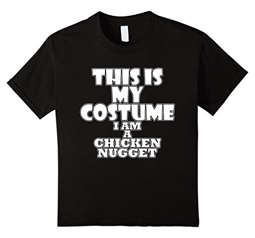 Chicken Nugget Costume - Kids Chicken Nugget Funny Halloween Costume Idea T-Shirt 12 Black