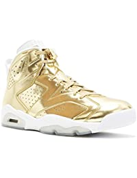 Mens Air Jordan 6 Retro Pinnacle Metallic Gold/White Leather