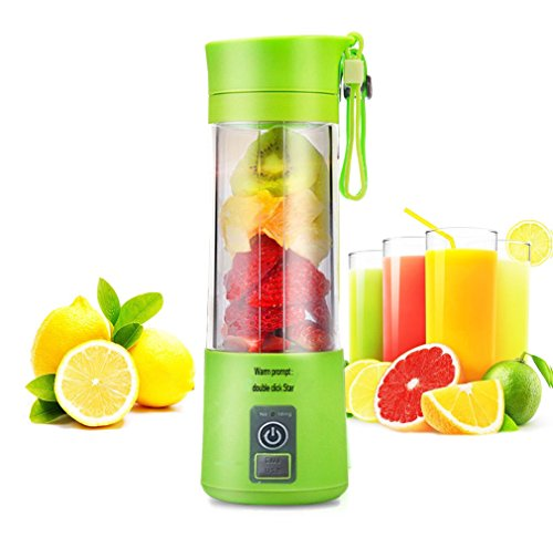 Elecstory USB Portable Blender USB Juicer Cup, Fruit Mixing Machine with USB Charger Fruit Mixing Machine Personal Sized Blender Rechargeable USB Juice Blender and Mixer