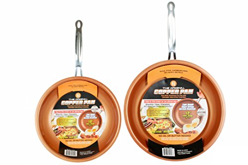Original Copper Pan 10 and 12 inch Round Pans 2-Pack
