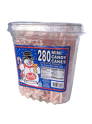 Bobs Red & White Mini Peppermint Candy Canes, 280Count Tub