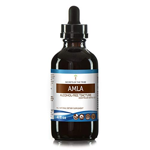 Amla Tincture Alcohol-Free Extract, Organic Amla (Emblica Officinalis) Dried Fruit 4 oz