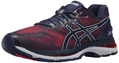 ASICS Men's Gel-Nimbus 20 Running Shoe, Indigo Blue/Indigo Blue/Fiery Red, 10 Medium US - Indigo Shoes Com