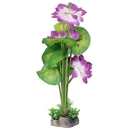 eDealMax acuario plástico del tanque de pescados Artificial decoración Flor de la planta DE 40 cm