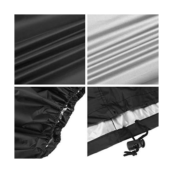 Zorara Housse de Salon, Table Rectangulaire Oxford pour Meubles de Jardin UV Protection (242 x 162 x 100 cm)